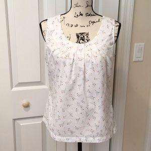 Boden Floral Printed cotton blouse Sz 8
